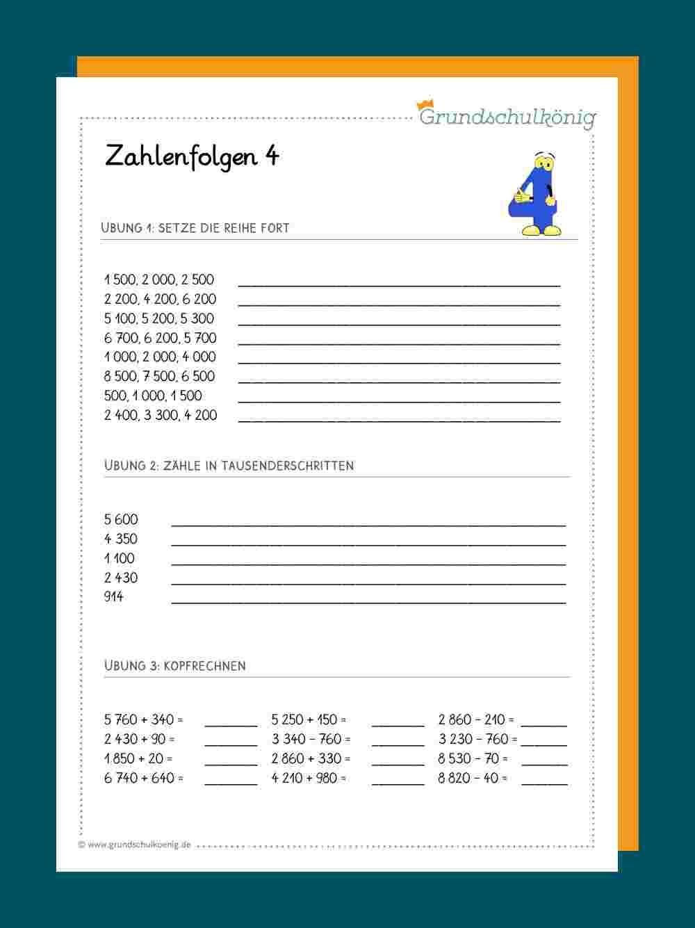 Zahlenreihen / Zahlenfolgen im Zahlenraum 20 20   Zahlenreihen ...