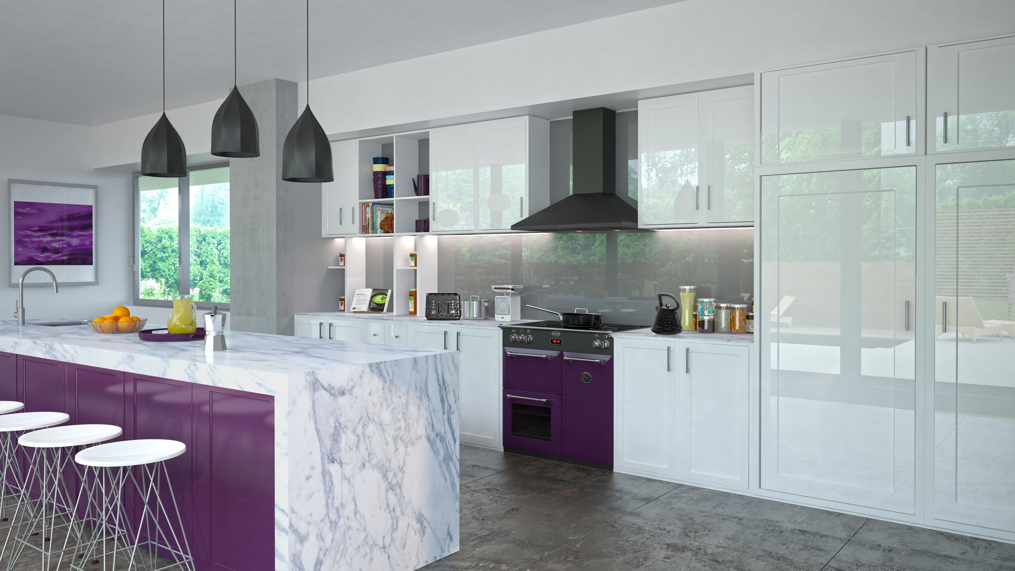 Give Your Kitchen A Lovely Purple Tinge With Premium Appliances,