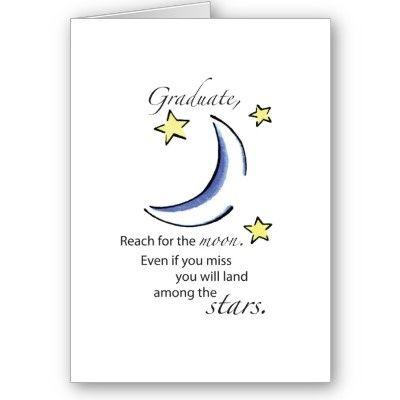 Graduate Reach For Moon Congratulations Card Graduation School