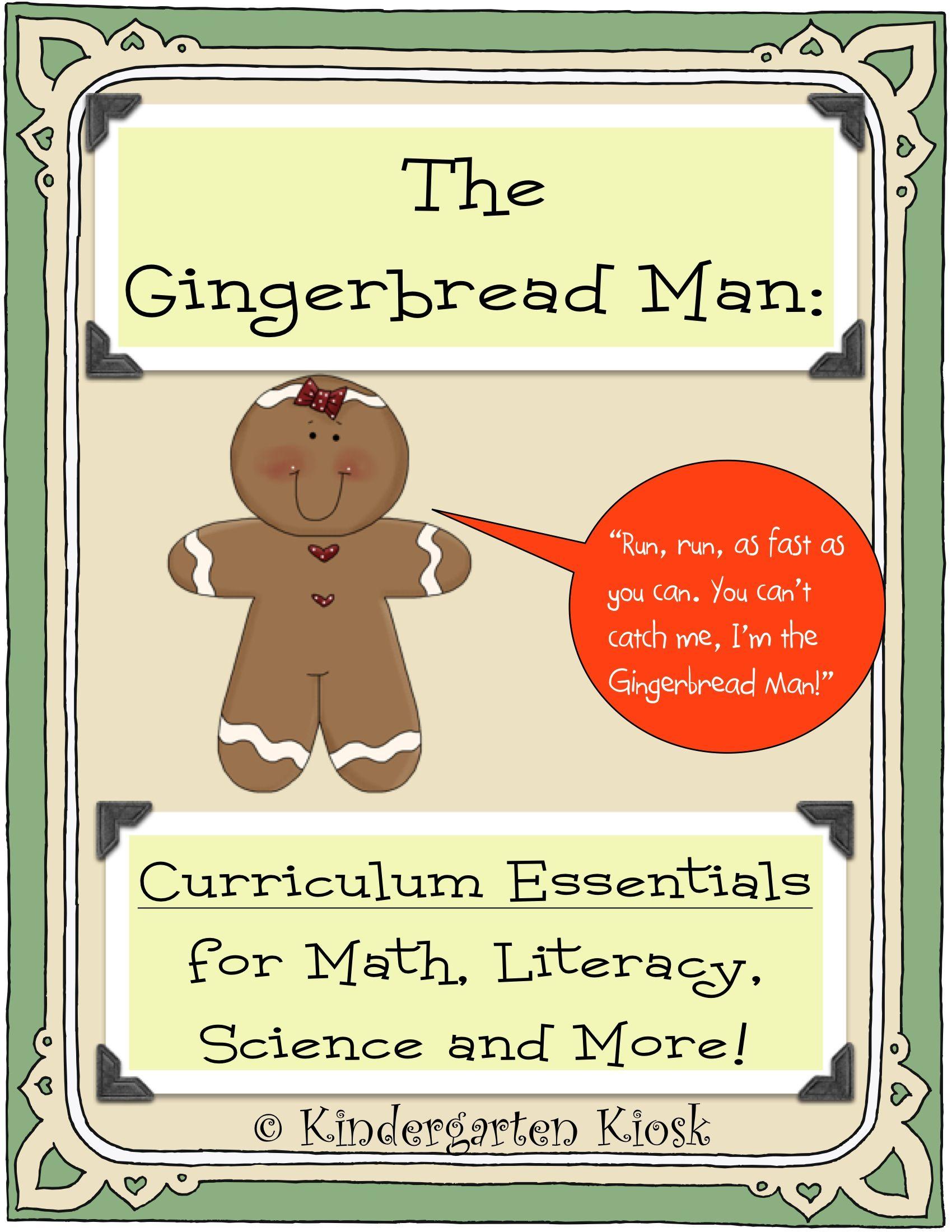 Gingerbread Man Thematic Unit Preschool Units Themes Thematic Units Kindergarten Units [ 2200 x 1700 Pixel ]