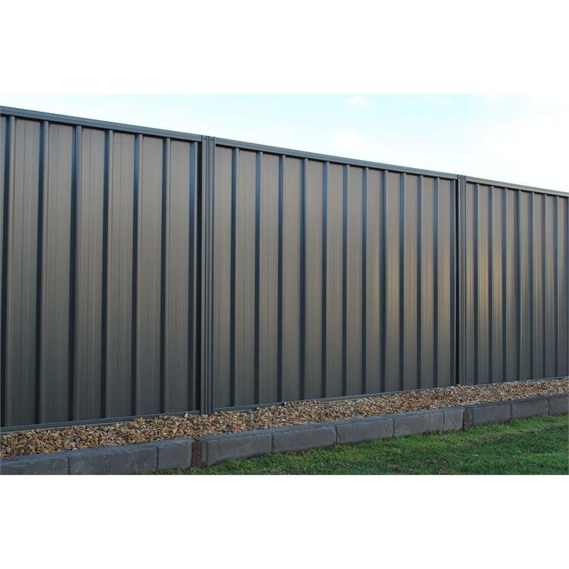 Fielders 1 8m Rivergum Double Sided Steel Fencing Panel Metal Fence Panels Metal Fence Corrugated Metal Fence