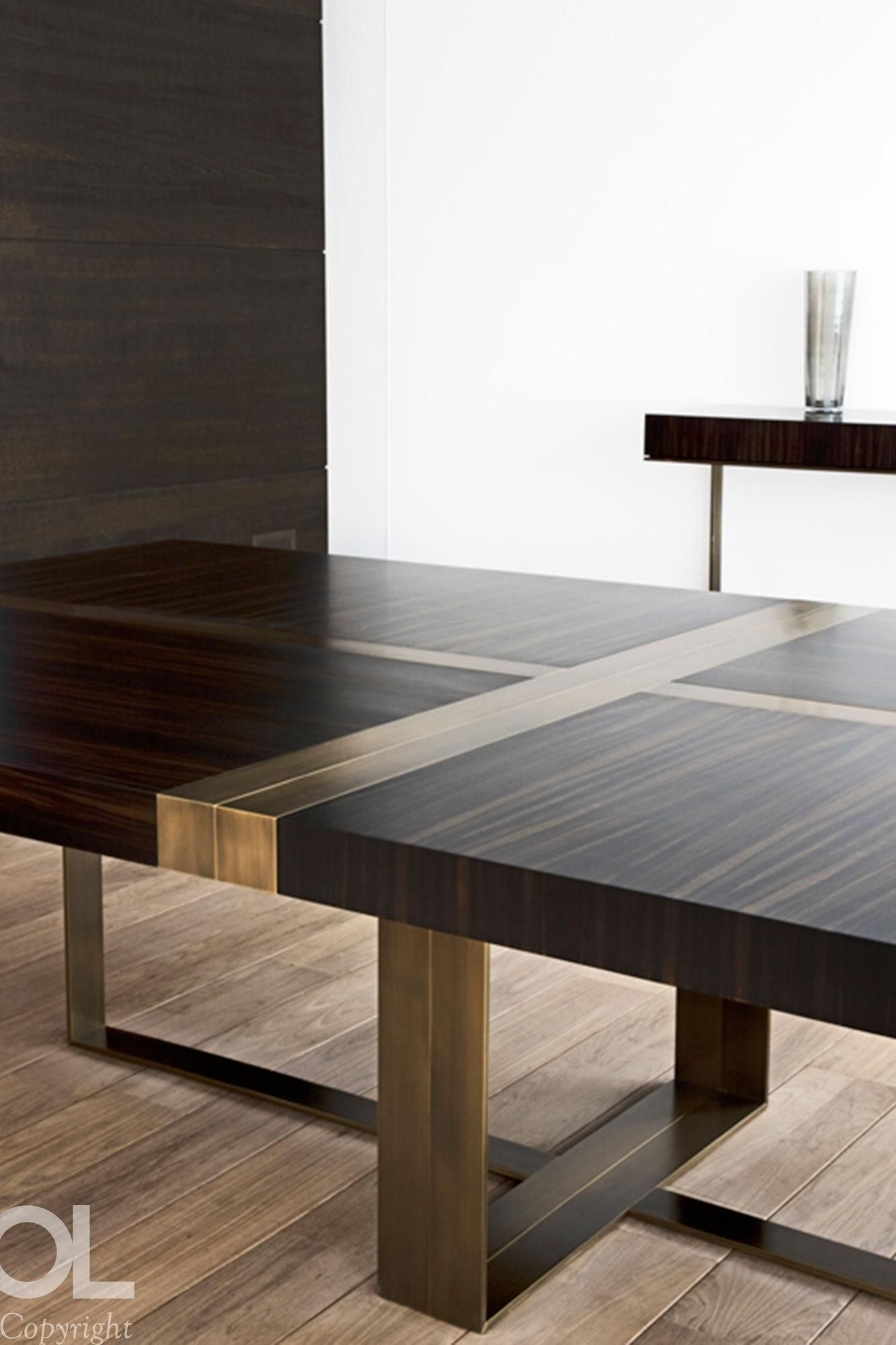 Table Bronze Wood Furniture Dining Tables