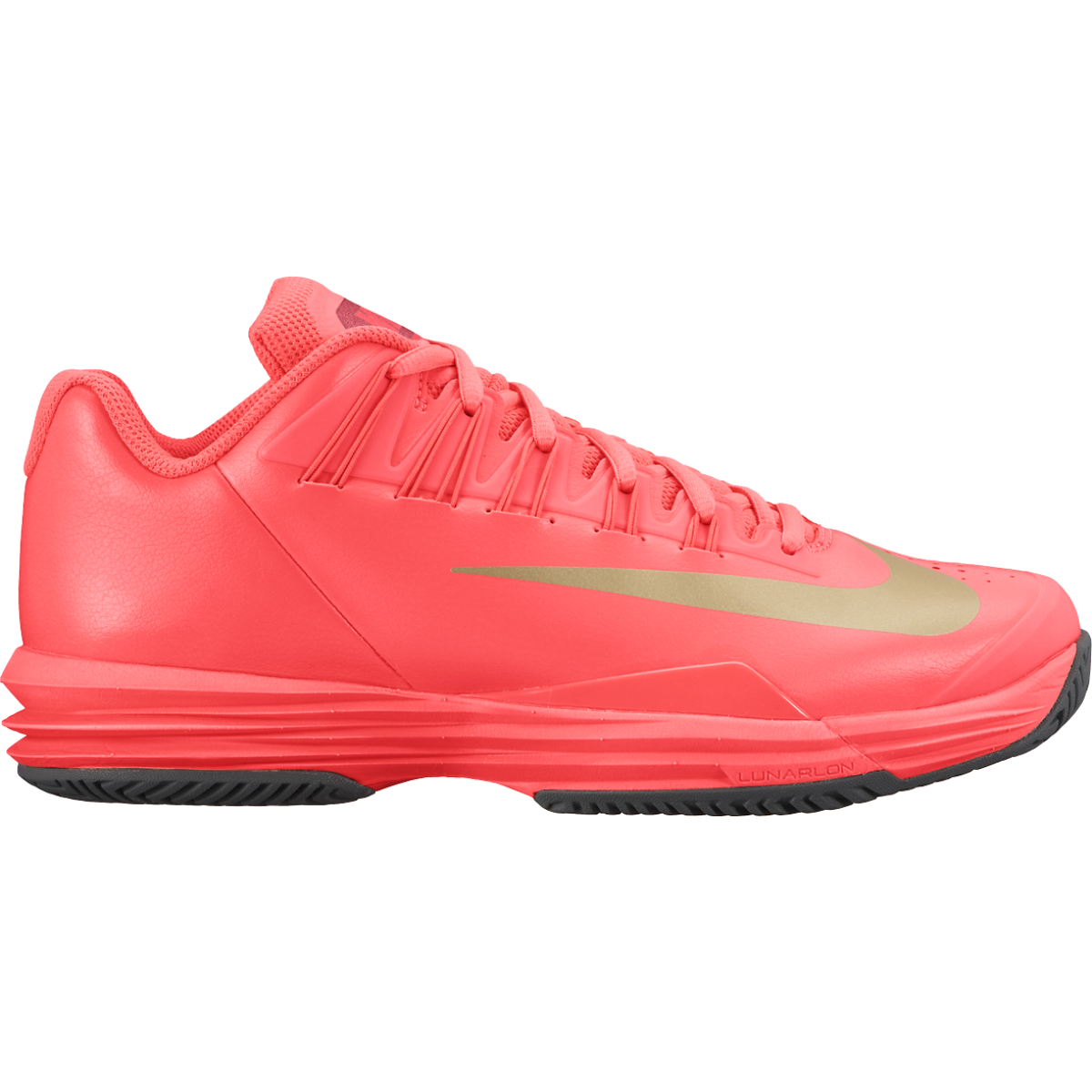 free shipping 96a37 6aa61 Nike Lunar Ballistec 1.5 Women s Tennis Shoe Hot Lava   Gold