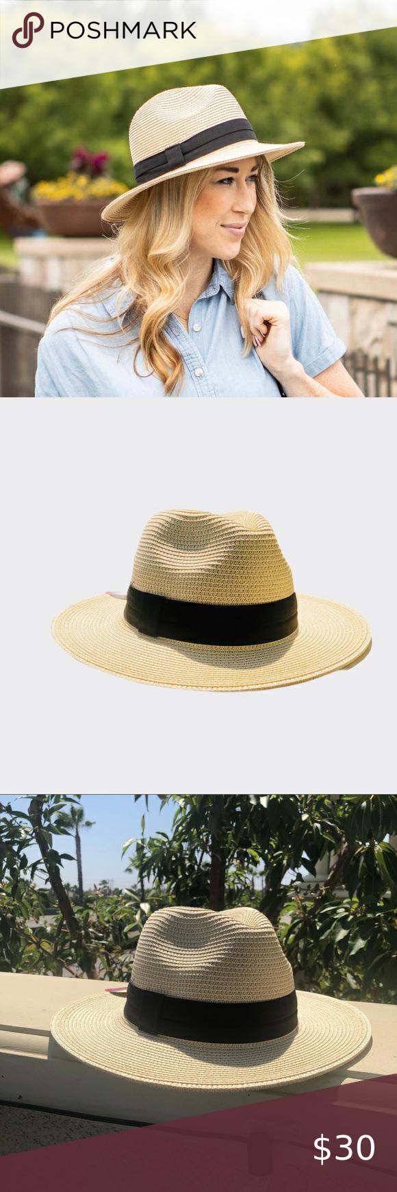 Fedora Sun Hat Weaved Short Brim Beach Spf 50 Nwt Fedora Weaved Sun Hat Short Brim Beach Spf 50 Nwt Solar Escape Fedora Hat Unis Sun Hats Women Shopping Fedora