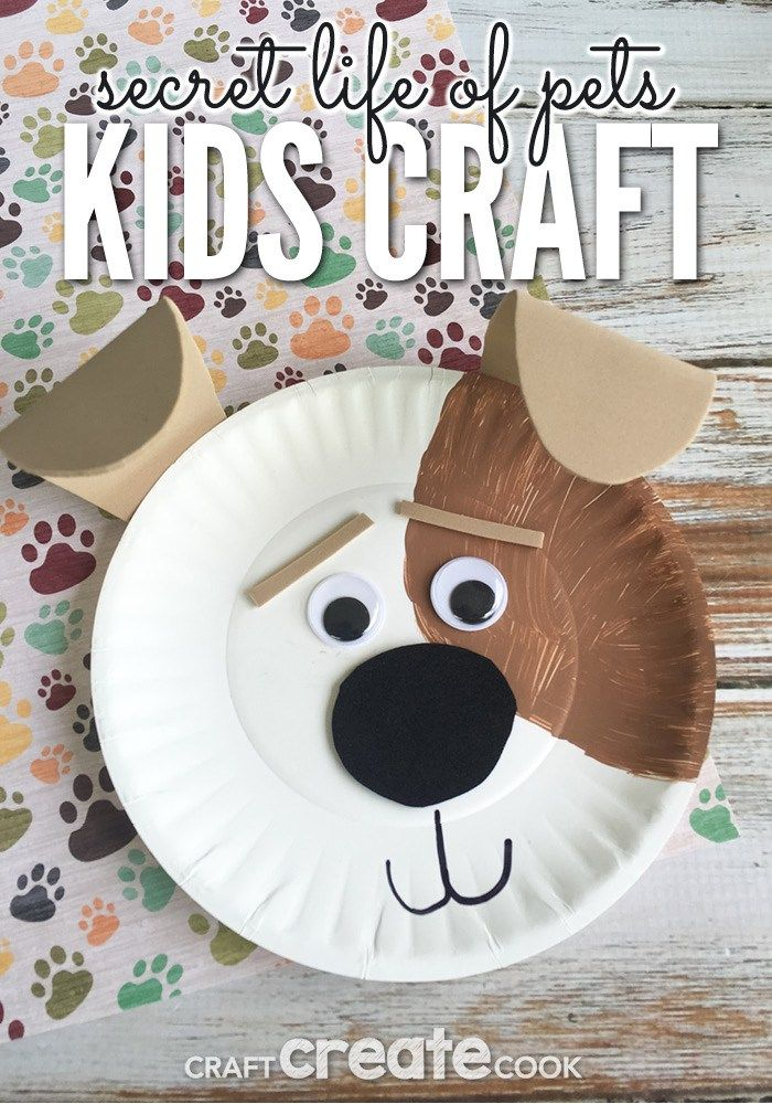 Secret Life Of Pets Max Kids Craft Preschool Crafts Toddler