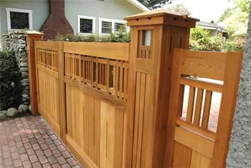 Obviously this craftsman style fence would break the bank for Craftsman style fence