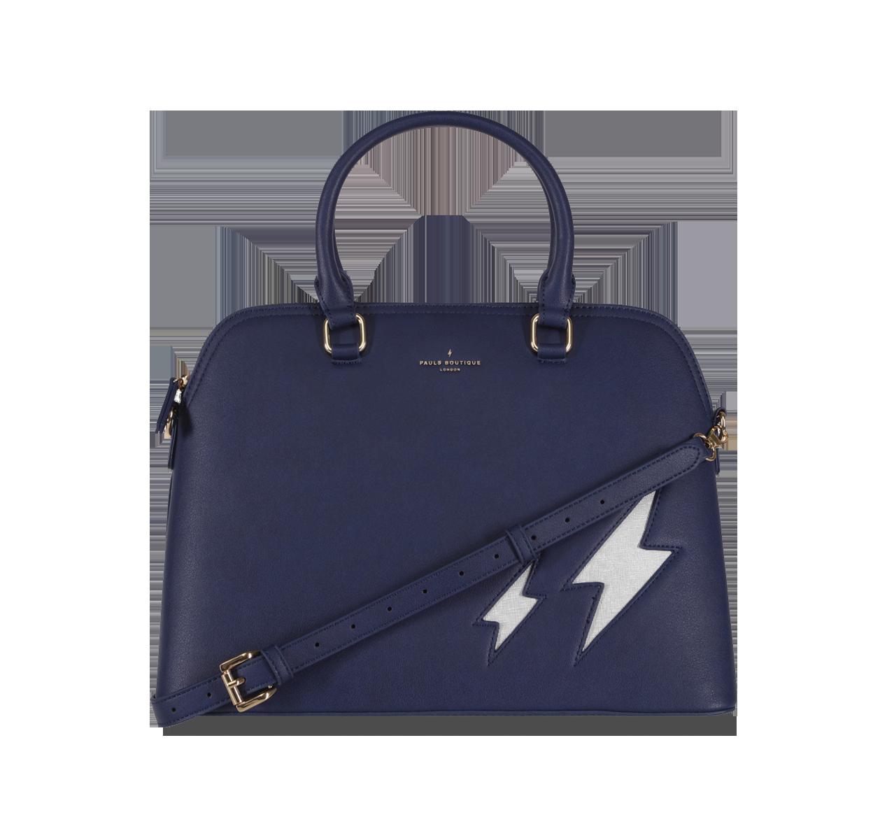 Maisy - Top Handle Bag - Navy   Silver ( Pauls Boutique ... 73fec4ceda