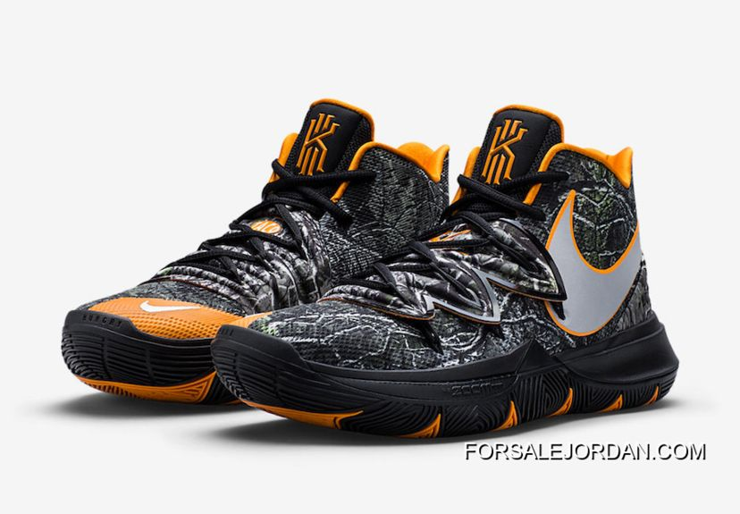 "2019 的 Nike Kyrie 5 ""Taco"" Camo Orange-Black 主题  1f6ad0972"