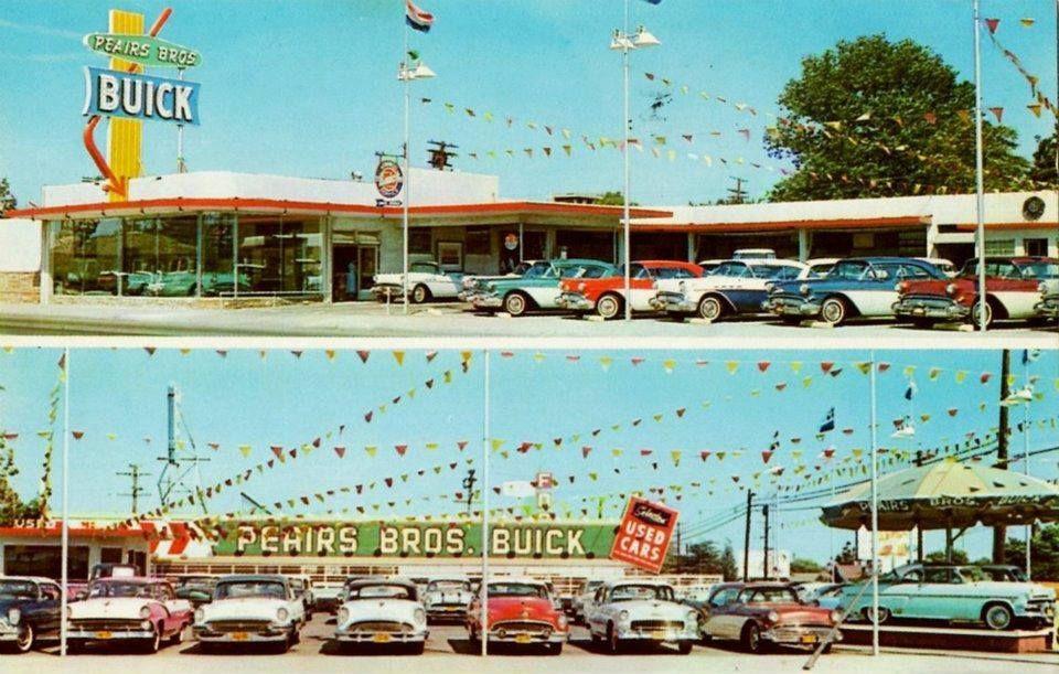 Peairs Brother\'s Buick. Bellflower, California. 1957 | Vintage car ...