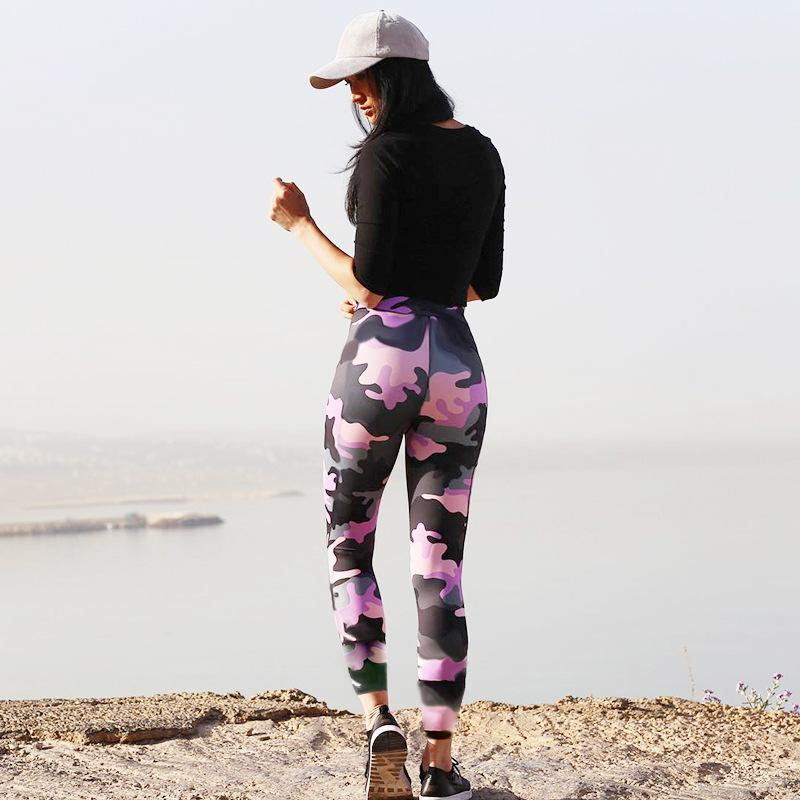 453cf4dc820ba Material: Polyester, Spandex Pattern Type: Print Waist Type: Mid Fabric  Type: Knitted Length: Ankle-Length Thickness: Standard Size: S,M,L Color:  Camouflage ...
