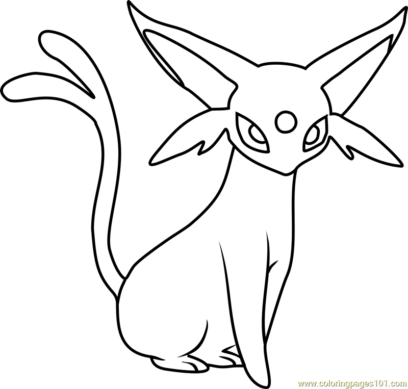 Espeon Pokemon Coloring Pages
