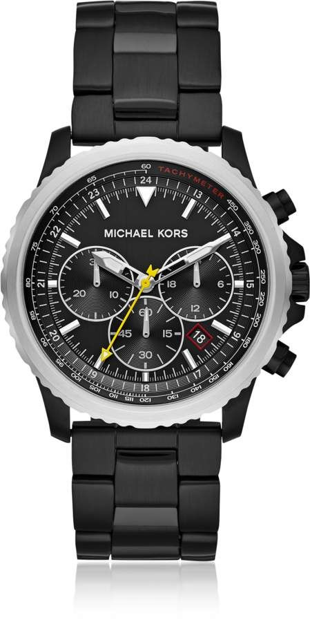 70dbbfde8490 Michael Kors Theroux Black Plated Chronograph Watch  320.00 Actual ...