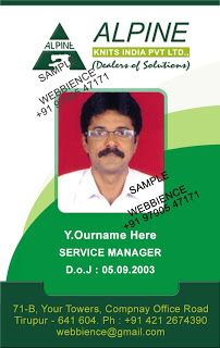 Employee Id Card  Best Marketing Company Id Card Template