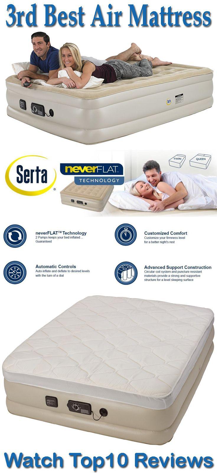 Serta Raised Air Mattress with Never Flat Pump Serta raised air