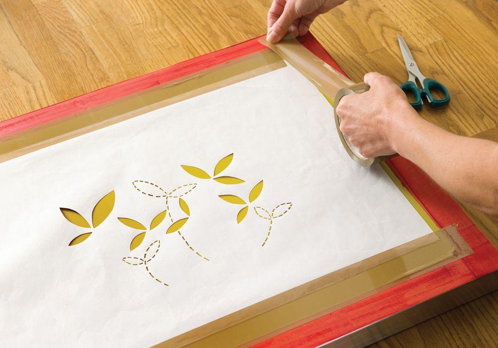 How to make a screen print stencil Screen printing