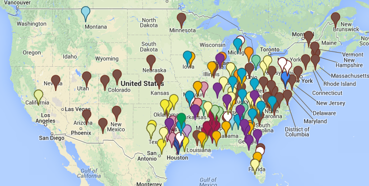 Map 41 States Have An Active Chapter Of The Kkk