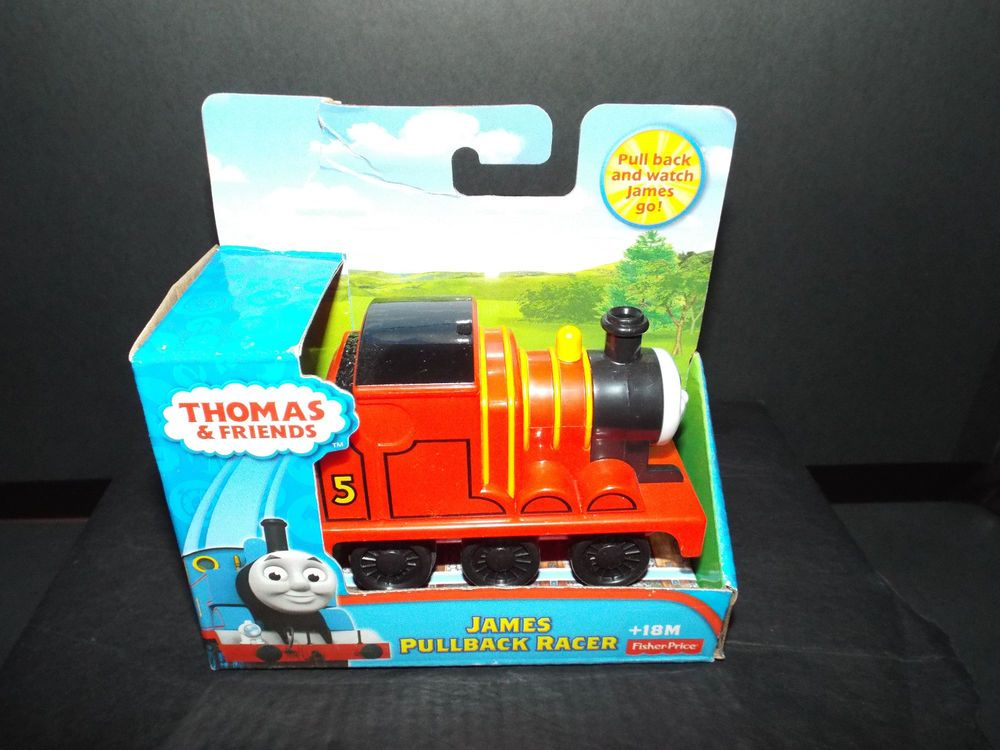 Fisher Price Thomas & Friends Pull Back Racer JAMES New ...