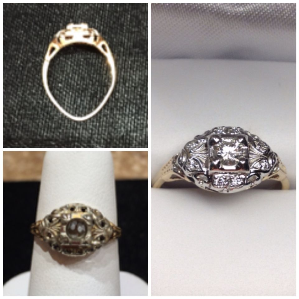 My Fiance Was Sneaky And Got My Great Grandmother S Ring That Is 100 Years Old And Restored It At The Artful Eye In P Wedding Rings Engagement Engagement Rings