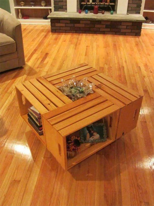 diy home ideas 25 creative ways to recycle wooden crates and pallets - Wooden Crates Hobby Lobby