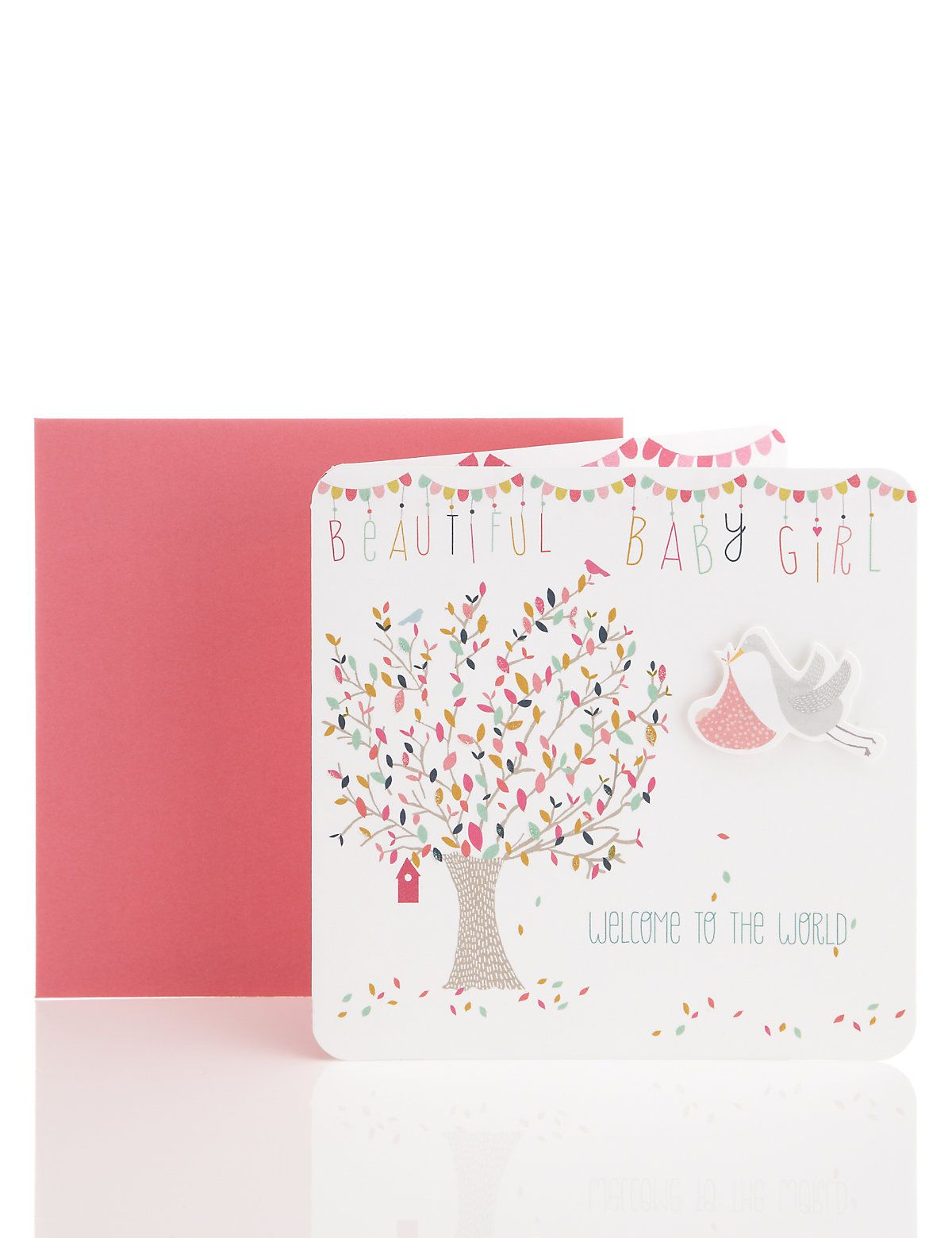 Flying stork baby girl greetings card ms baby pinterest flying stork baby girl greetings card ms kristyandbryce Image collections
