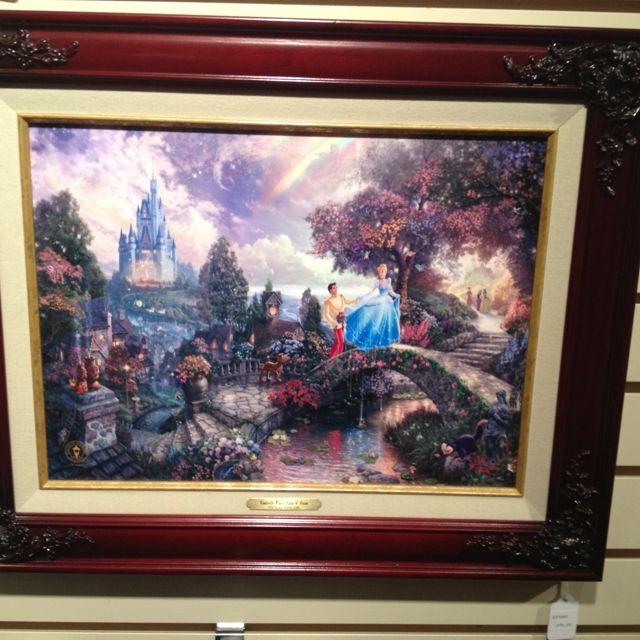 Cinderella Thomas Kinkade painting