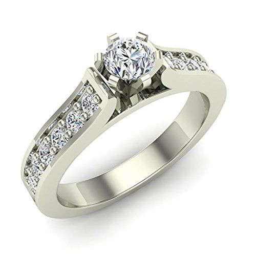 1/2 ct tw G I1 Natural Diamond Engagement Ring 14k White Gold * Check out this great product.