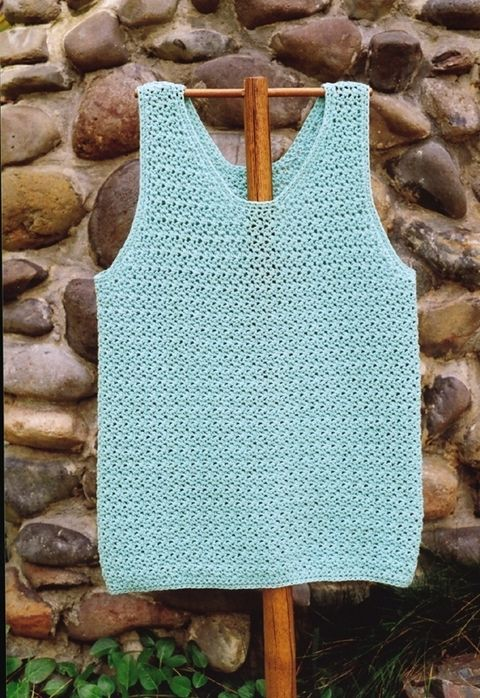 Crochet tank top.  Easy, only need to know single and double crochet.