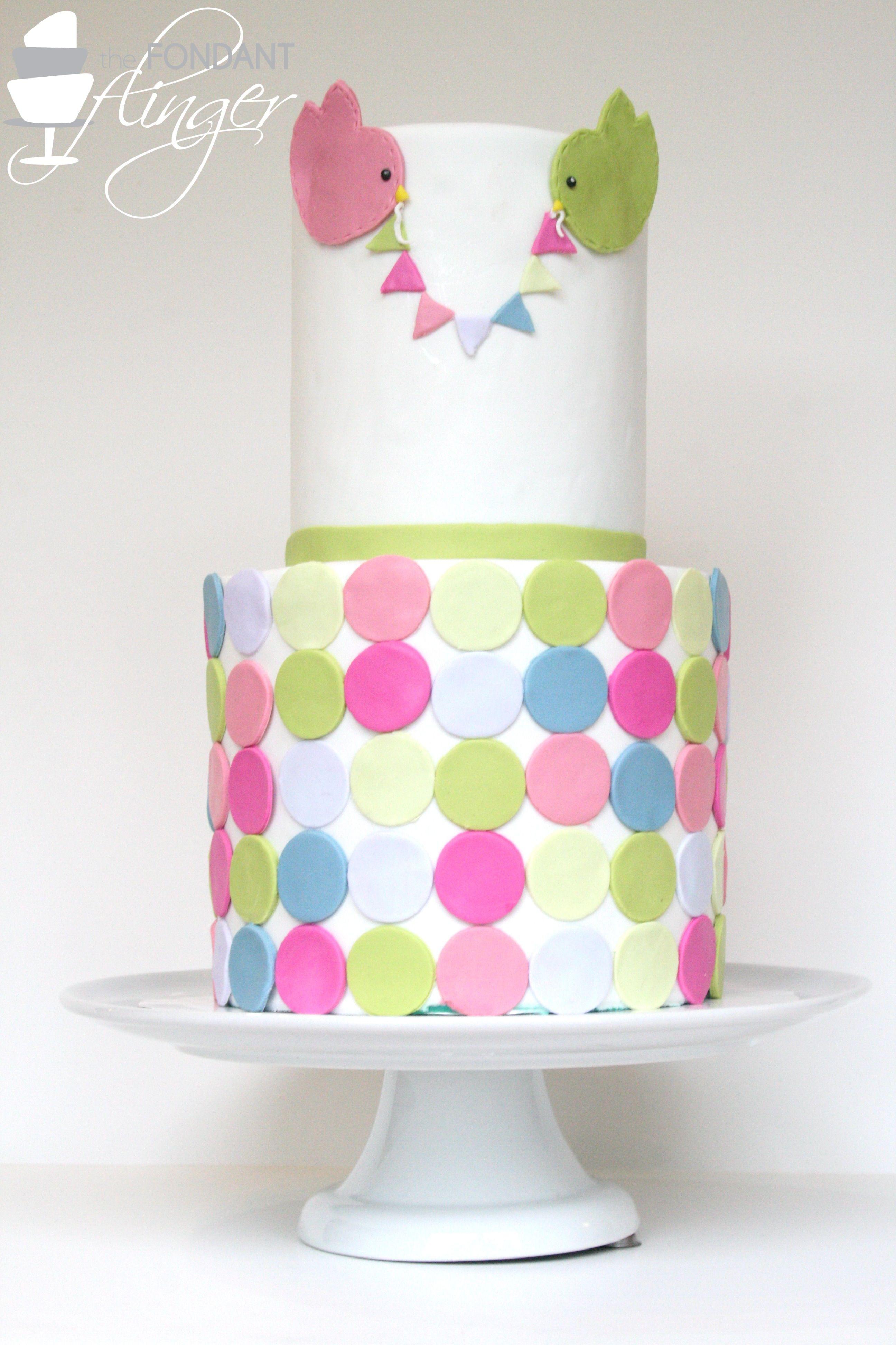 Beautiful multicolored baby shower cake | Cake Decorating - Baby ...