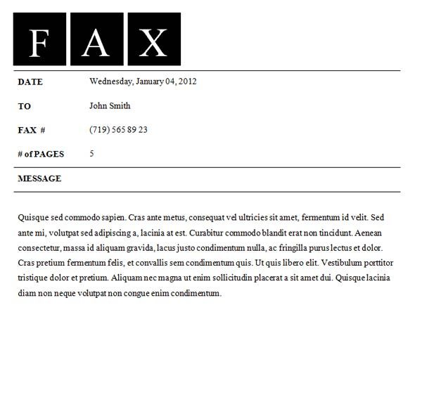 Fax Message Format - Twenty.Hueandi.Co