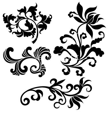scroll floral vector 549594 by paul june on vectorstock floral rh pinterest com vector floral patterns illustrator floral vector pattern png