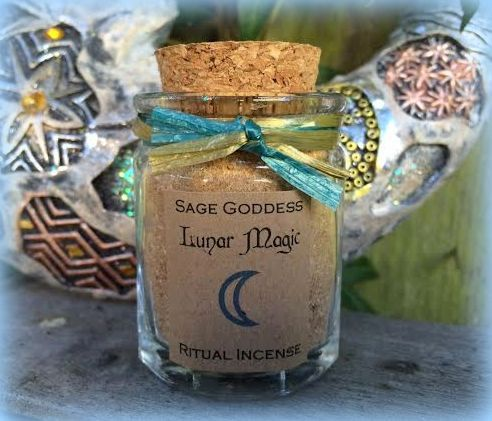 Lunar Magic Full and New Moon Ritual Incense  by TheSageGoddess, $18.00