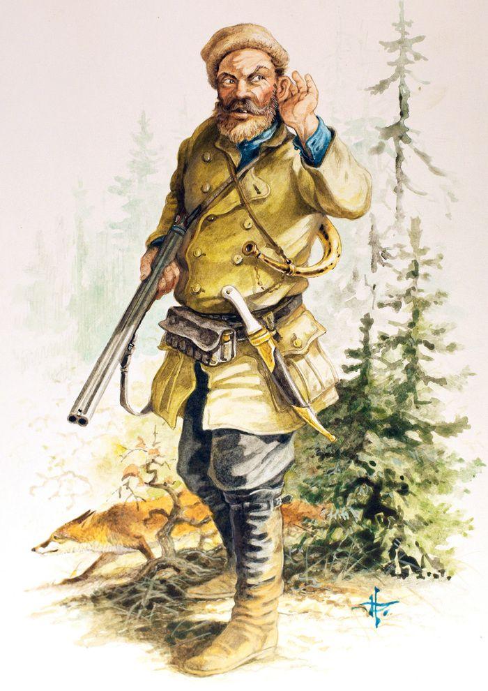 Картинки нарисованные охотник