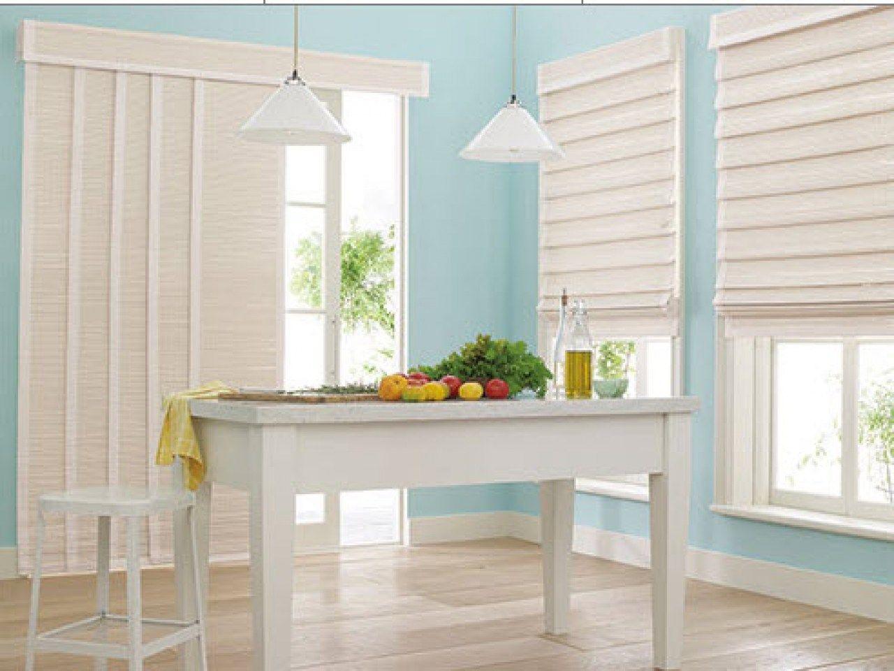 Window treatments for bedroom sliding glass doors window