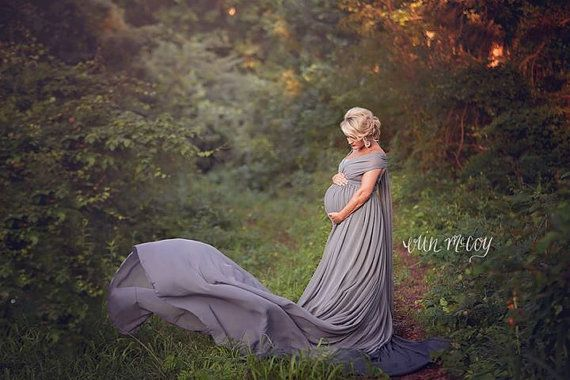 Meghan Maternity Dress Extended Length Skirt with Infinity Straps, Chiffon, Maternity Photography Prop, Maternity Prop