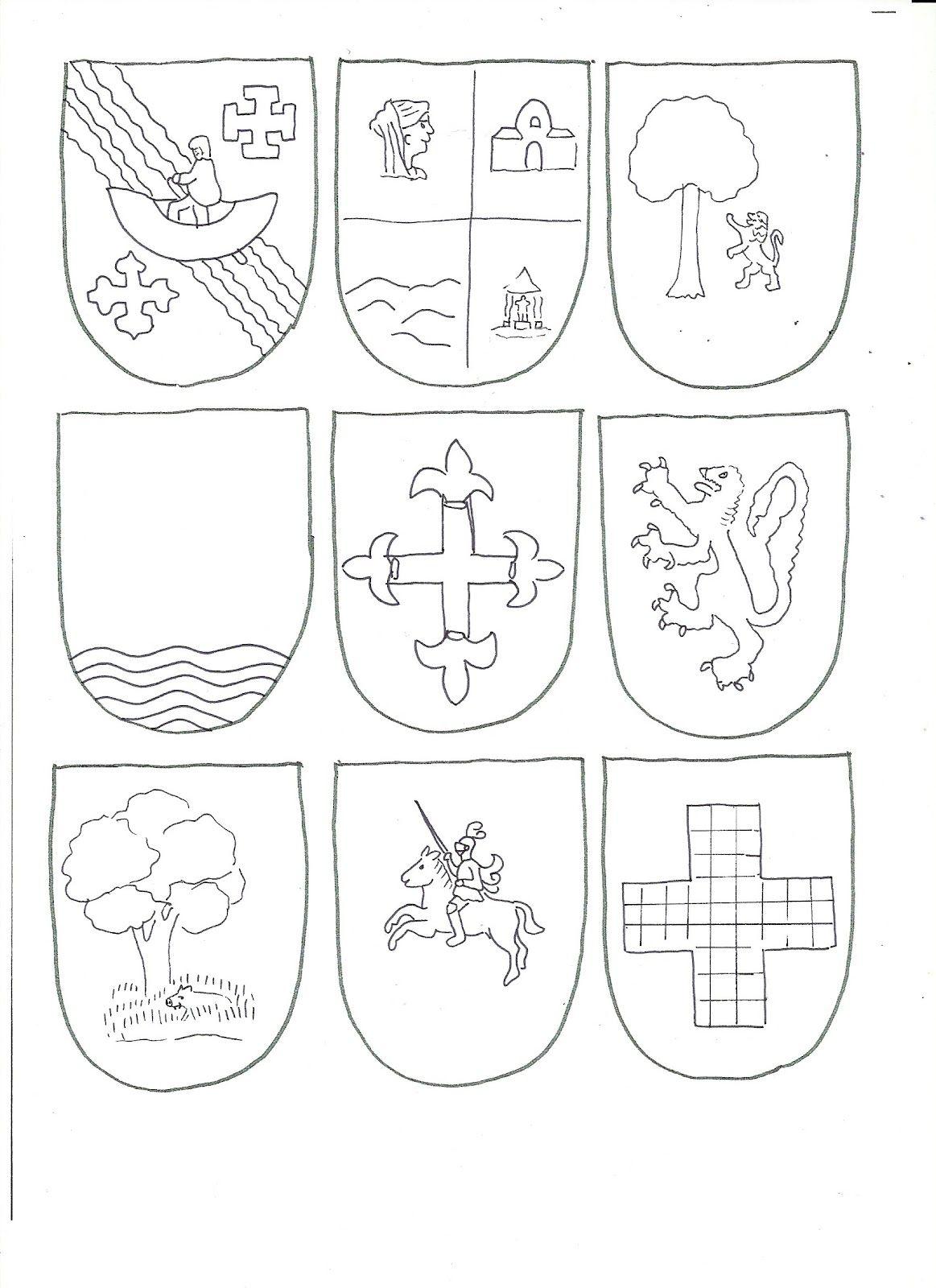Los apellidos tienen un escudo de armas, que muestra en sus motivos ...