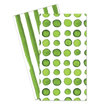 Verdi Green Dual-Sided Dinner Napkins by smartyhadaparty.com!