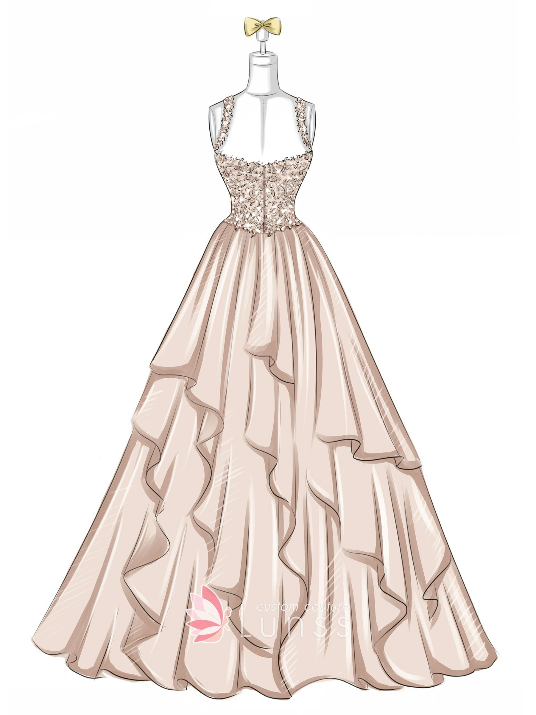 Dress Sketches Gallery - Wedding Dresses, Evening Prom Gowns
