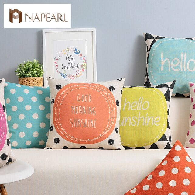 US $13.8 |Fresh polka dot american multicolour car piaochuang cushion set sofa fluid pillow|cushion set|sofa cushion pillowssofa pillow - AliExpress
