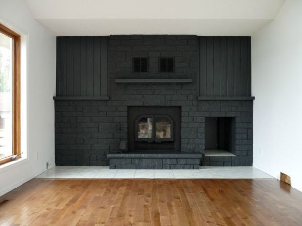 Before After This Dramatic Fireplace Makeover Only Cost 60 Housebeautiful
