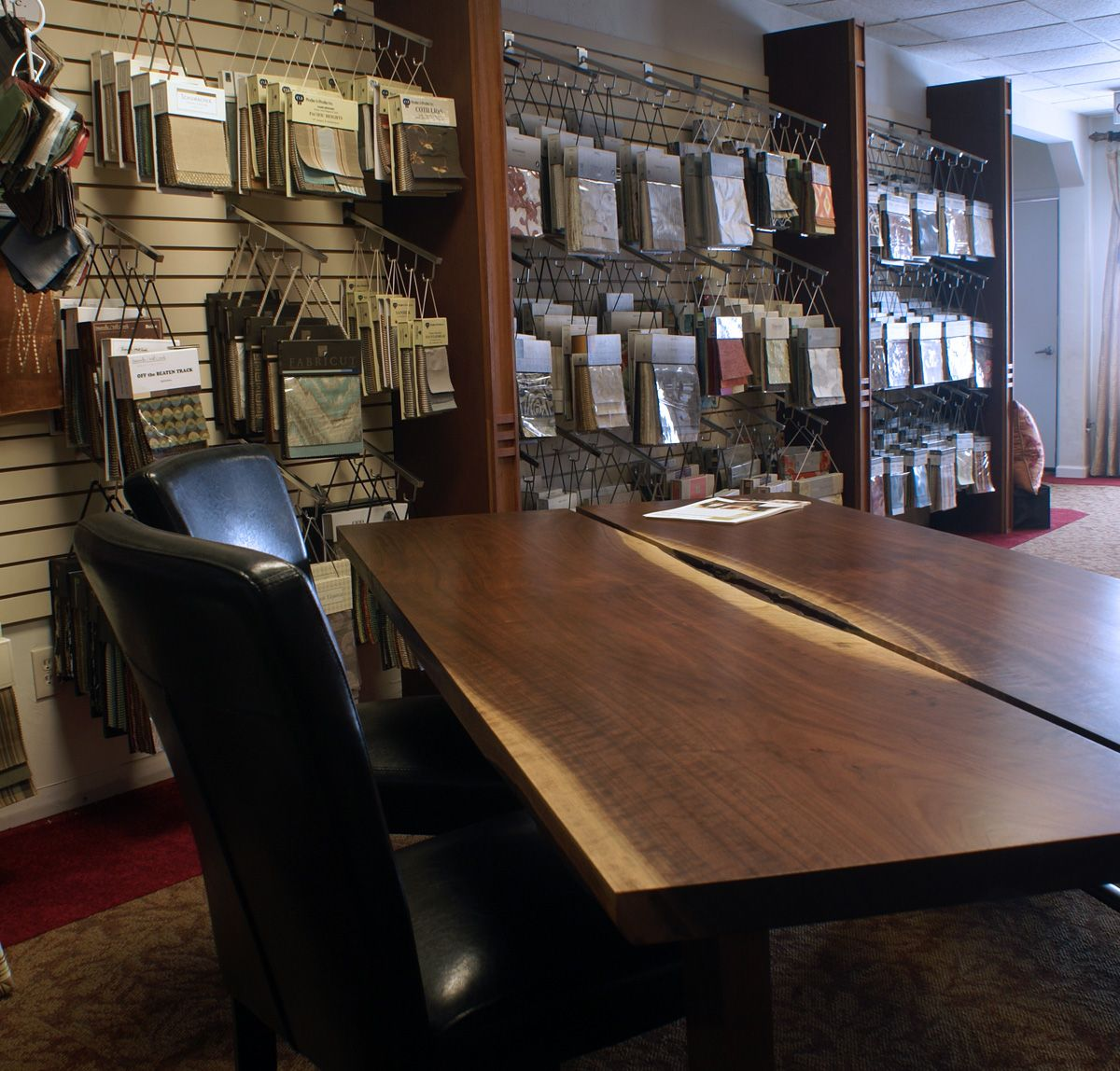 Interior Design Upholstery Sample Display Custom Window Treatments Designer Fabrics And Slab