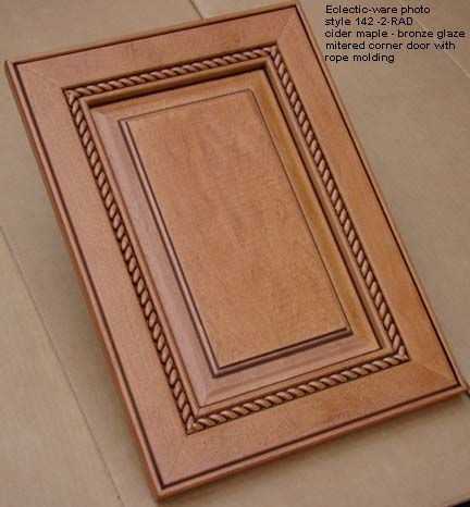 Woodmont Doors Rope Moulding Finished Wood Cabinet Doors Glazed