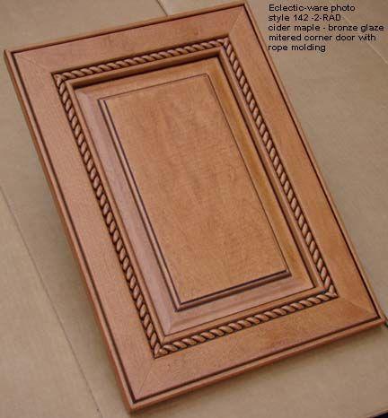 Woodmont Doors Rope Moulding Finished Wood Cabinet Doors   Glazed Cabinet  Doors