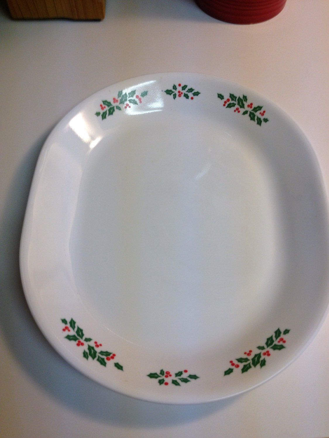 Corelle Winter Holly Days Serving Platter by thetrendykitchen on ...