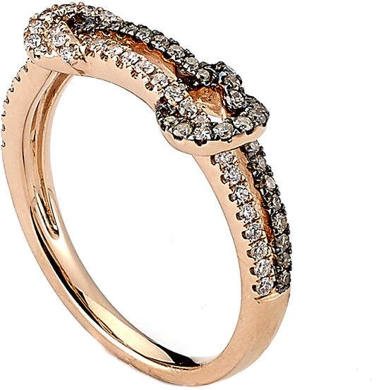 Samuel B Fine Jewelry 14K Rose Gold 039 Ct Tw Diamond Ring