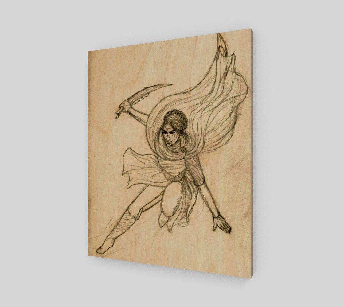 FighterWoman | Wood print, Ninja star and Shuriken