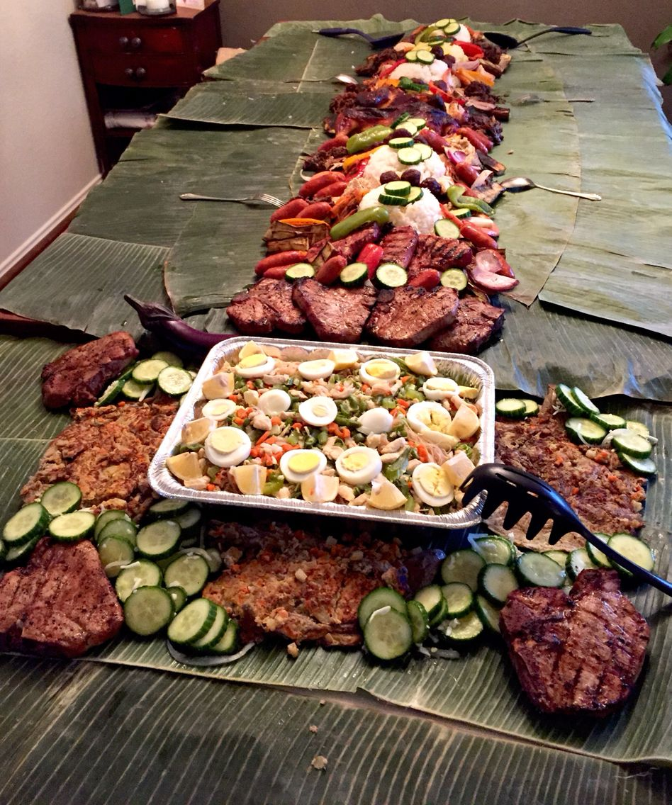 Budol Fight Spread. Filipino Style Party