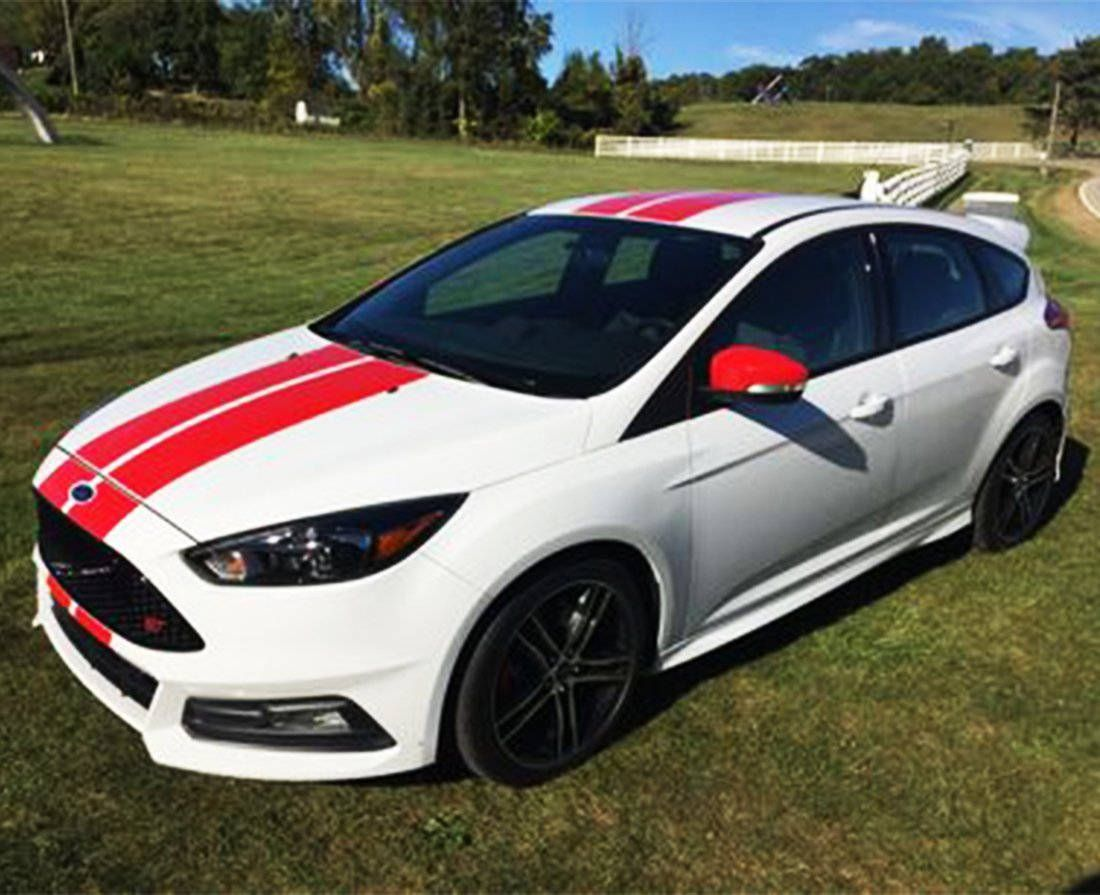 Decal Sticker Graphic Front To Back Stripe Kit Compatible With Ford Focus St Rs 3rd Generation Ford Focus Ford Focus St Ford