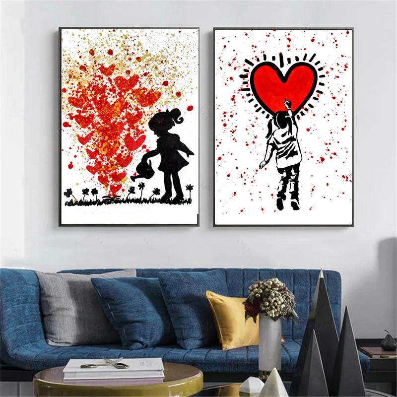 Love Pop Art Print By Alizzi Artist Eleartwall Pop Art Pop Art Print Graffiti Wall Art