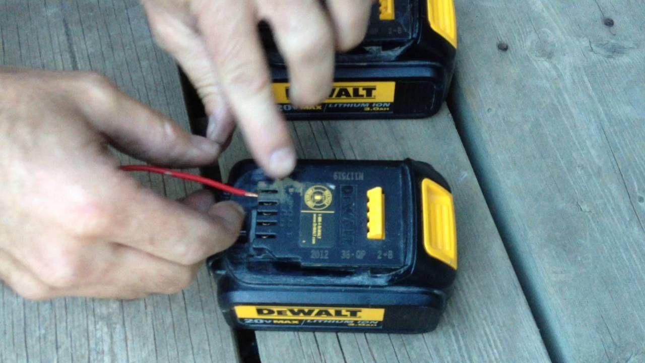 Dewalt Battery Charging Fix Youtube Cordless Drill Batteries Cordless Power Tools Battery Hacks