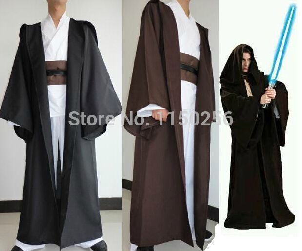 Star Wars Jedi Sith Knight Hooded Cloak Robe Cape Halloween Cosplay Costume